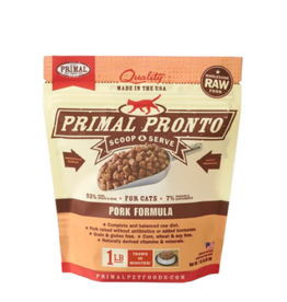 Primal Pet Foods Primal Raw Frozen Pronto Cat Food Pork 1 lb (*Frozen Products for Local Delivery or In-Store Pickup Only. *)