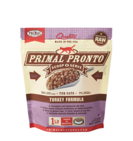 Primal Pet Foods Primal Raw Frozen Pronto Cat Food Turkey 1 lb (*Frozen Products for Local Delivery or In-Store Pickup Only. *)