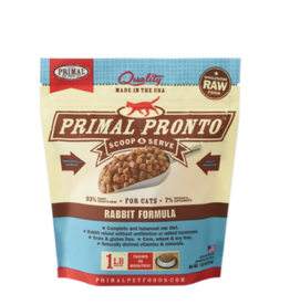 Primal Pet Foods Primal Raw Frozen Pronto Cat Food Rabbit 1 lb (*Frozen Products for Local Delivery or In-Store Pickup Only. *)