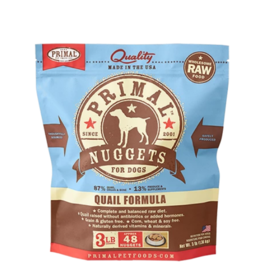 Primal Primal Raw Frozen Nuggets Dog Food Quail 3 lb (*Frozen Products for Local Delivery or In-Store Pickup Only. *)