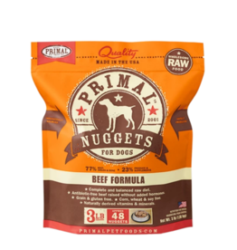 Primal Pet Foods Primal Raw Frozen Nuggets Dog Food Beef 3 lb (*Frozen Products for Local Delivery or In-Store Pickup Only. *)