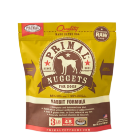 Primal Primal Raw Frozen Nuggets Dog Food Rabbit 3 lb (*Frozen Products for Local Delivery or In-Store Pickup Only. *)