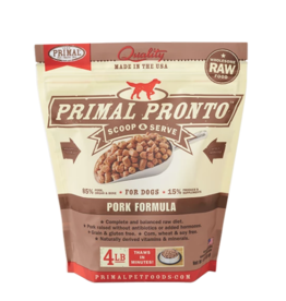 Primal Primal Raw Frozen Pronto Dog Food Pork 4 lb (*Frozen Products for Local Delivery or In-Store Pickup Only. *)