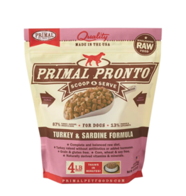 Primal Primal Raw Frozen Pronto Dog Food Turkey & Sardine 4 lb (*Frozen Products for Local Delivery or In-Store Pickup Only. *)
