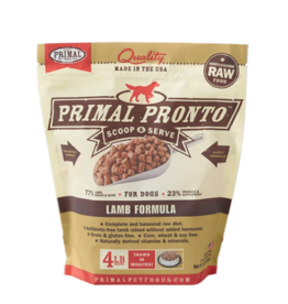 Primal Pet Foods Primal Raw Frozen Pronto Dog Food Lamb 4 lb (*Frozen Products for Local Delivery or In-Store Pickup Only. *)