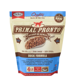 Primal Primal Raw Frozen Pronto Dog Food Duck 4 lb (*Frozen Products for Local Delivery or In-Store Pickup Only. *)