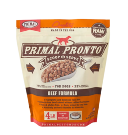 Primal Primal Raw Frozen Pronto Dog Food Beef 4 lb (*Frozen Products for Local Delivery or In-Store Pickup Only. *)