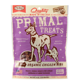 Primal Primal Jerky Dog Treats  Chicken Nibs 4 oz