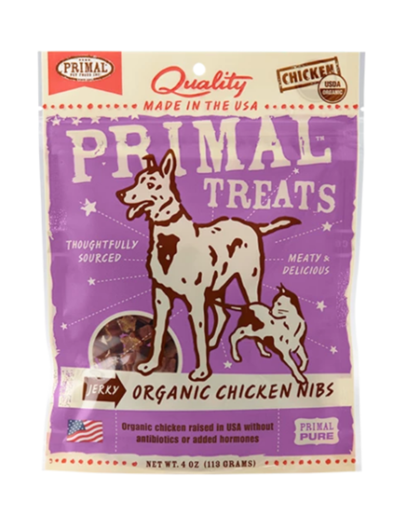 Primal Primal Jerky Dog Treats  Chicken Nibs 4 oz