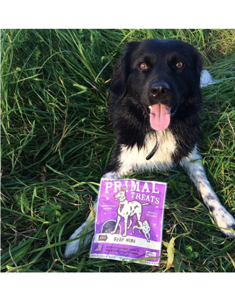 Primal Primal Jerky Dog Treats  Beef Nibs 4 oz