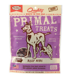Primal Primal Jerky Dog Treats  Beef Nibs 4 oz