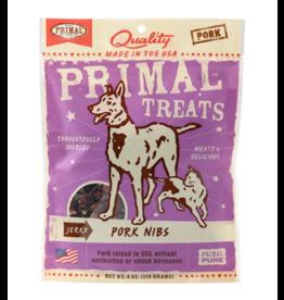 Primal Pet Foods Primal Jerky Dog Treats  Pork Nibs 4 oz