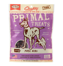 Primal Primal Jerky Dog Treats  Pork Nibs 4 oz