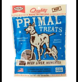 Primal Pet Foods Primal Freeze Dried Dog Treats  Beef Liver Munchies 2 oz