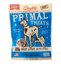 Primal Primal Freeze Dried Dog Treats  Beef Liver Munchies 2 oz