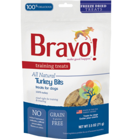 Bravo Bravo Freeze Dried Dog Treats Turkey Bits Training Treats 2.5 oz