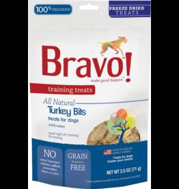 Bravo Bravo Freeze Dried Dog Treats Turkey Bits Training Treats 2.5 oz