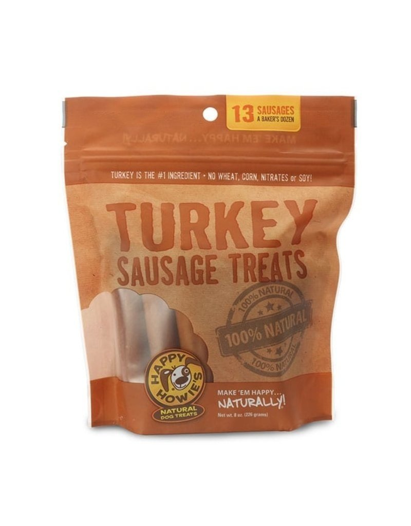 "Happy Howie's Happy Howie's Dog Treats Turkey Sausages 12"" single"