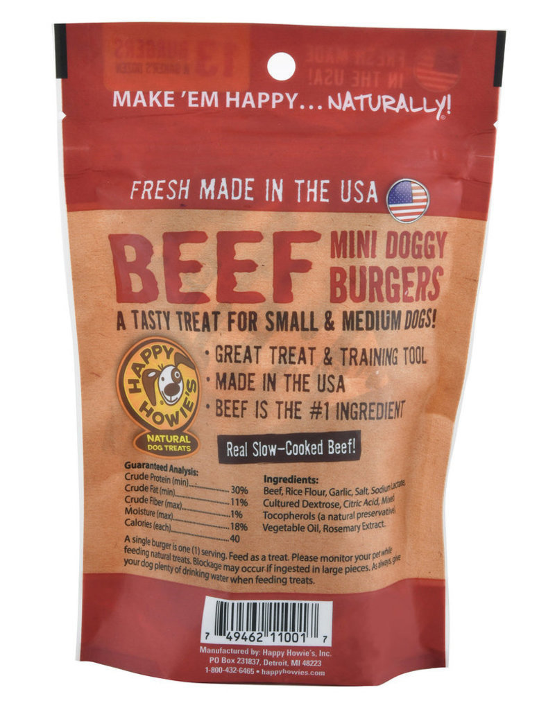Happy Howie's Happy Howie's Dog Treats CASE Beef Burger 2""