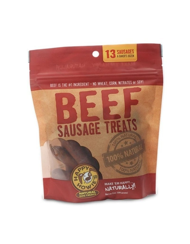 Happy Howie's Happy Howie's Dog Treats CASE Beef Sausages 4""