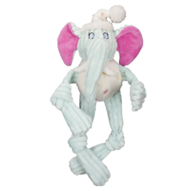 HuggleHounds HuggleHounds Toys Party Animal Elephant Knottie Extra Small (XS)/Wee