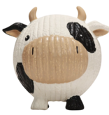 HuggleHounds HuggleHounds Toys Ruff-Tex Large Squeaky Latex Cow