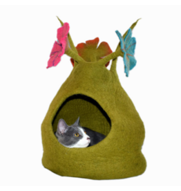Distinctly Himalayan Distinctly Himalayan Felt Pet Cave Bouquet Multi