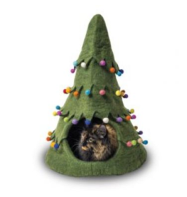 Distinctly Himalayan Distinctly Himalayan Felt Pet Cave Bouquet Christmas Tree Green