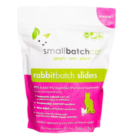 Smallbatch Pets Smallbatch Frozen Cat Food 1 oz Sliders | Rabbit 3 lbs (*Frozen Products for Local Delivery or In-Store Pickup Only. *)