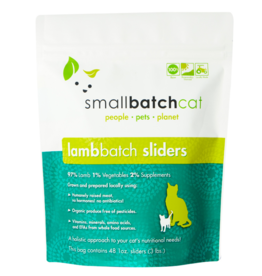 Smallbatch Pets Smallbatch Frozen Cat Food 1 oz Sliders | Lamb 3 lbs (*Frozen Products for Local Delivery or In-Store Pickup Only. *)
