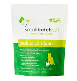 Smallbatch Pets Smallbatch Frozen Cat Food 1 oz Sliders | CASE Duck 3 lbs (*Frozen Products for Local Delivery or In-Store Pickup Only. *)