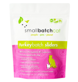 Smallbatch Pets Smallbatch Frozen Cat Food 1 oz Sliders | CASE Turkey 3 lbs (*Frozen Products for Local Delivery or In-Store Pickup Only. *)