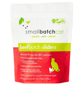 Smallbatch Pets Smallbatch Frozen Cat Food 1 oz Sliders | CASE Beef 3 lbs (*Frozen Products for Local Delivery or In-Store Pickup Only. *)