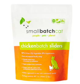 Smallbatch Pets Smallbatch Frozen Cat Food 1 oz Sliders | CASE Chicken 3 lbs (*Frozen Products for Local Delivery or In-Store Pickup Only. *)