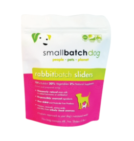 Smallbatch Pets Smallbatch Frozen Dog Food 1 oz Sliders | CASE Rabbit 3 lbs (*Frozen Products for Local Delivery or In-Store Pickup Only. *)