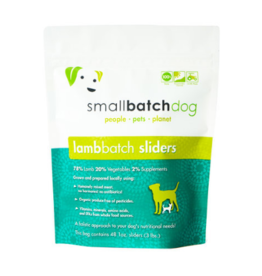Smallbatch Pets Smallbatch Frozen Dog Food 1 oz Sliders | CASE Lamb 3 lbs (*Frozen Products for Local Delivery or In-Store Pickup Only. *)