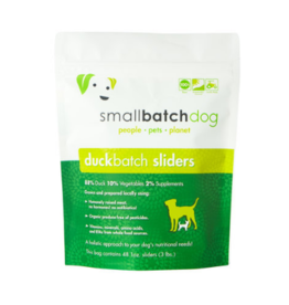 Smallbatch Pets Smallbatch Frozen Dog Food 1 oz Sliders | CASE Duck 3 lbs (*Frozen Products for Local Delivery or In-Store Pickup Only. *)