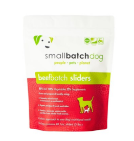 Smallbatch Pets Smallbatch Frozen Dog Food 1 oz Sliders | CASE Beef 3 lbs (*Frozen Products for Local Delivery or In-Store Pickup Only. *)