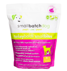Smallbatch Pets Smallbatch Frozen Dog Food Smallbites | CASE Turkey 4 lbs (*Frozen Products for Local Delivery or In-Store Pickup Only. *)