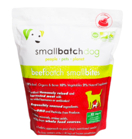 Smallbatch Pets Smallbatch Frozen Dog Food Smallbites | CASE Beef 4 lbs (*Frozen Products for Local Delivery or In-Store Pickup Only. *)