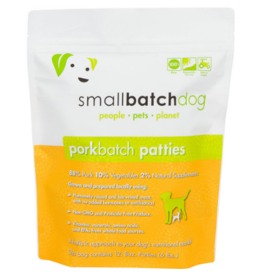 Smallbatch Pets Smallbatch Frozen Dog Food 8 oz Patties | Pork 6 lbs (*Frozen Products for Local Delivery or In-Store Pickup Only. *)