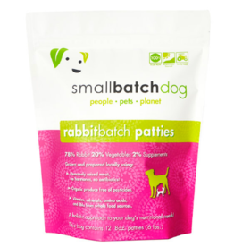 Smallbatch Pets Smallbatch Frozen Dog Food 8 oz Patties | CASE Rabbit 6 lbs (*Frozen Products for Local Delivery or In-Store Pickup Only. *)