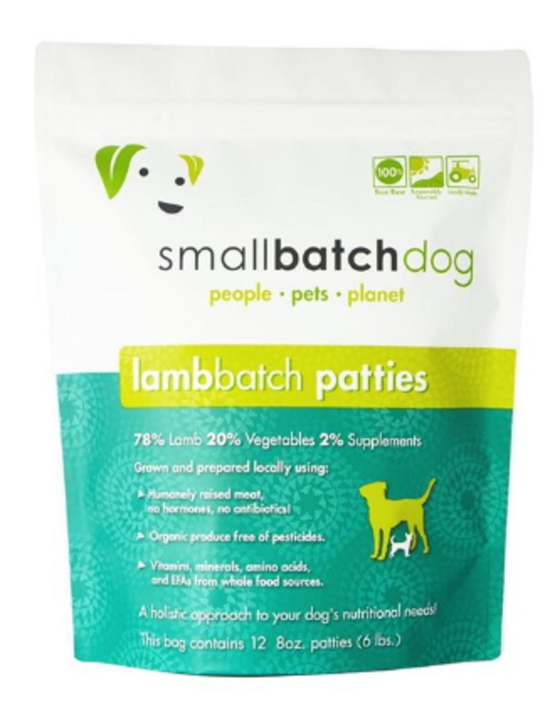 Smallbatch Pets Smallbatch Frozen Dog Food 8 oz Patties | Lamb 6 lbs (*Frozen Products for Local Delivery or In-Store Pickup Only. *)