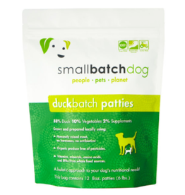 Smallbatch Pets Smallbatch Frozen Dog Food 8 oz Patties | Duck 6 lbs (*Frozen Products for Local Delivery or In-Store Pickup Only. *)