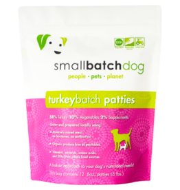 Smallbatch Pets Smallbatch Frozen Dog Food 8 oz Patties | Turkey 6 lbs (*Frozen Products for Local Delivery or In-Store Pickup Only. *)