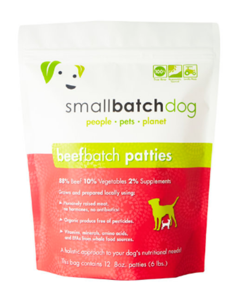 Smallbatch Pets Smallbatch Frozen Dog Food 8 oz Patties | Beef 6 lbs (*Frozen Products for Local Delivery or In-Store Pickup Only. *)