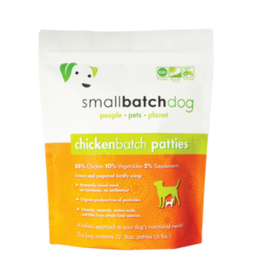 Smallbatch Pets Smallbatch Frozen Dog Food 8 oz Patties | Chicken 6 lbs (*Frozen Products for Local Delivery or In-Store Pickup Only. *)