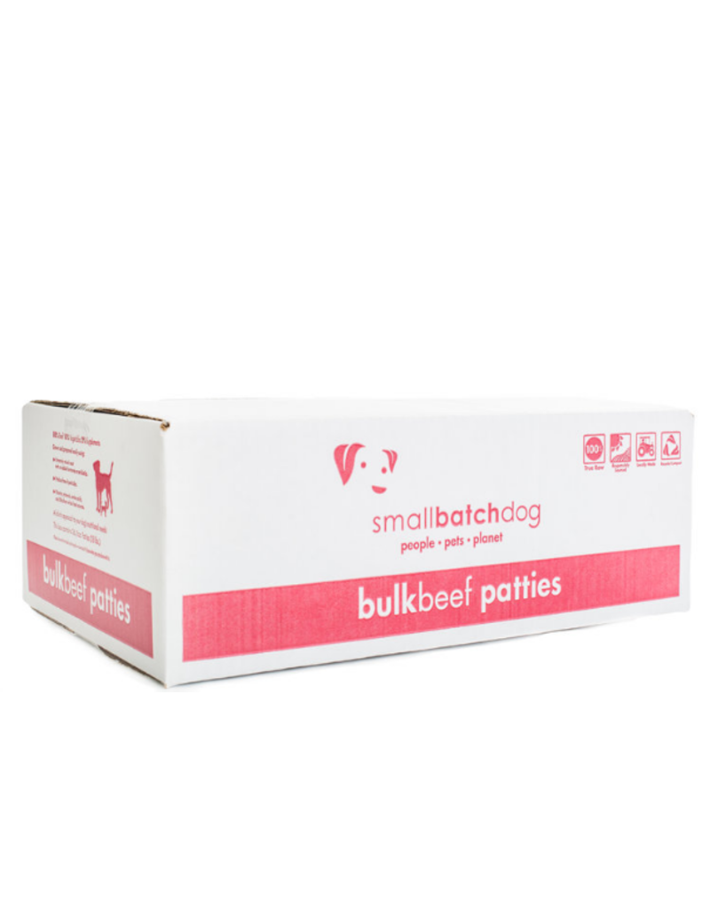 Smallbatch Pets Smallbatch Frozen Dog Food 8 oz Patties | Beef 18 lbs (*Frozen Products for Local Delivery or In-Store Pickup Only. *)
