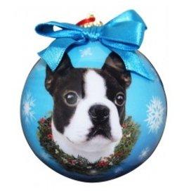 E&S Pets Christmas Ornament Boston Terrier