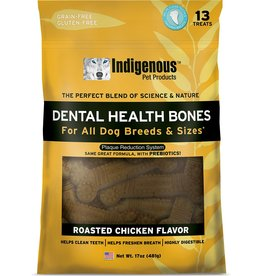 Indigenous Dog Treats Health Bones Roasted Chicken Flavor 17 oz